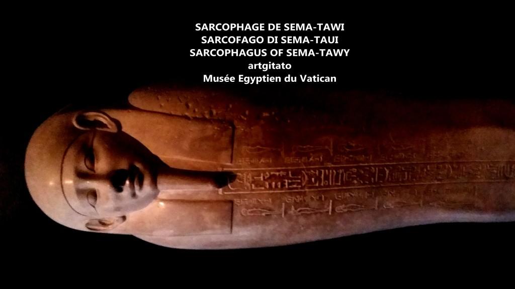 sarcophage de sema-tawi sema-taui-sema-tawy sarcofago sarcophagus musée égyptien du vatican artgitato 2
