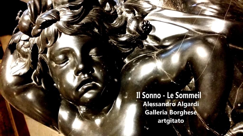 Alessandro Algardi Il sonno Le Sommeil Galleria Borghese Galerie Borghese artgitato 14