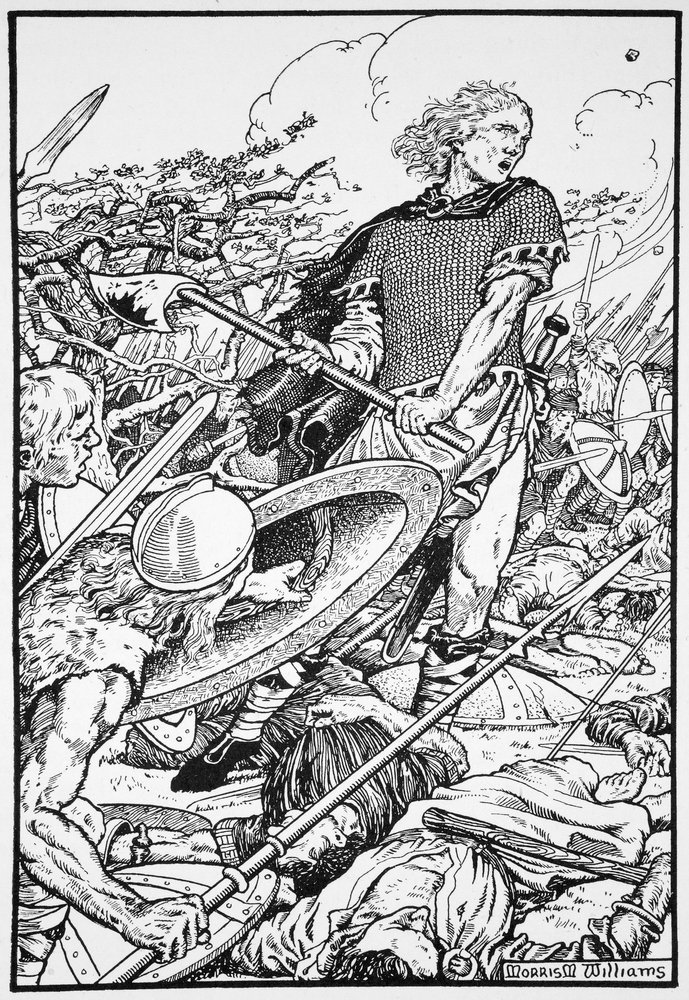 Alfred_the_Great_at_the_Battle_of_Ashdown_by_Morris_Meredith_Williams Alfred le Grand à la bataille de Ashdown, 871 par Morris Meredith Williams 1913
