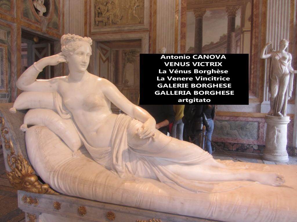 Antonio CANOVA VENUS VICTRIX - La Vénus Borghèse - La Venere Vincitrice - GALERIE BORGHESE - GALLERIA BORGHESE artgitato (16)