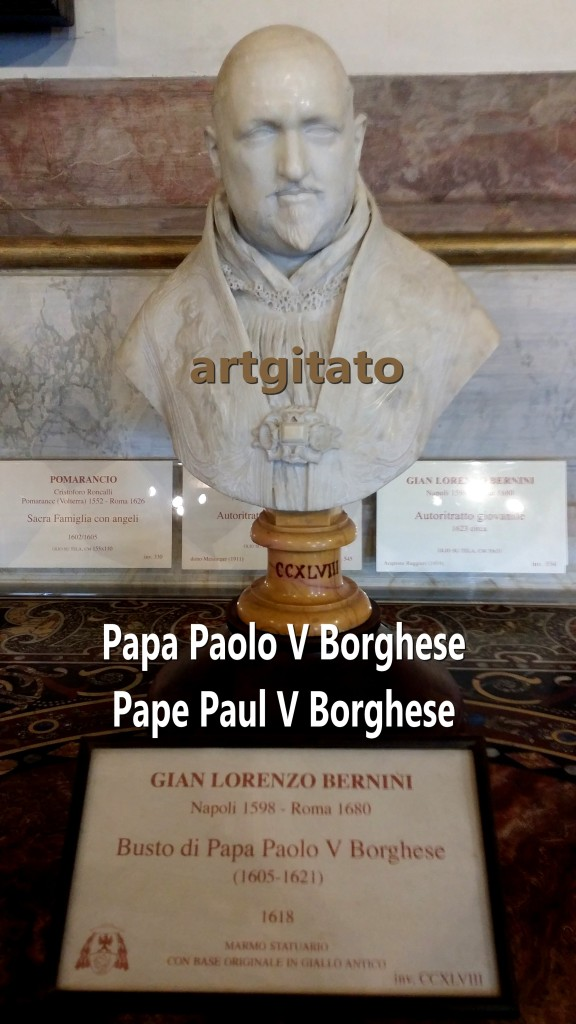 Busto di Papa Paolo V Borghese Pape Paul V Borghese Rome Roma Artgitato