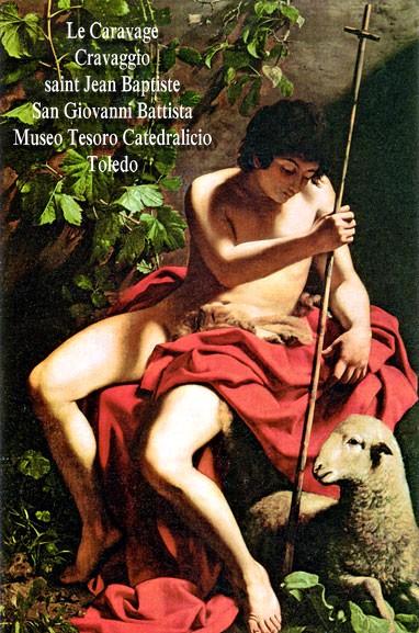 Caravaggio-Baptist-Toledo John the Baptistby Caravaggio 1571-1610 painted about 1598. Toledo, Museo del Tesoro Catedralico
