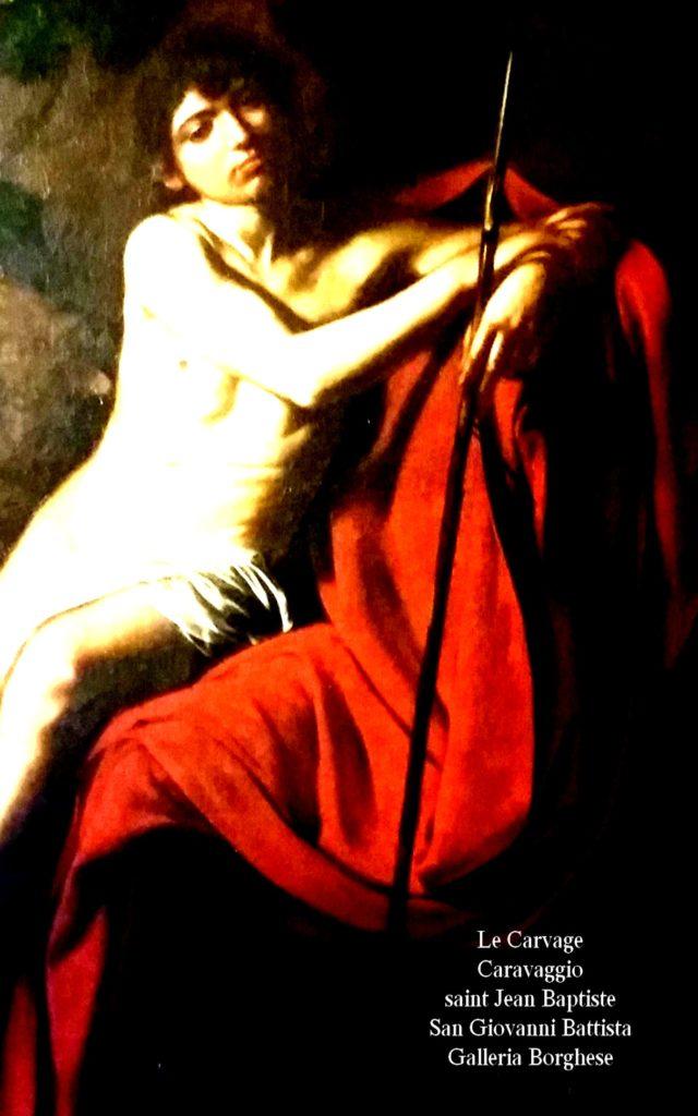Caravaggio Le Caravage Saint Jean Baptiste artgitato Galleria Borghese Galerie Borghese Rome Roma