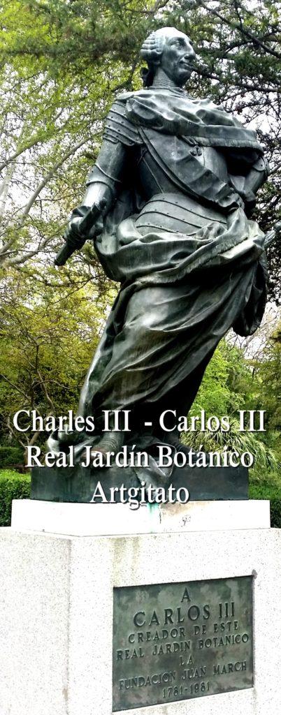 Charles III Carles III Real Jardín Botánico Jardin Botanique Royal Madrid Artgitato