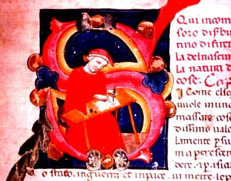 Codice miniato raffigurante Brunetto Latini, Biblioteca Medicea-Laurenziana, Plut. 42.19, Brunetto Latino, Il Tesoro, fol. 72, secoli XIII-XIV