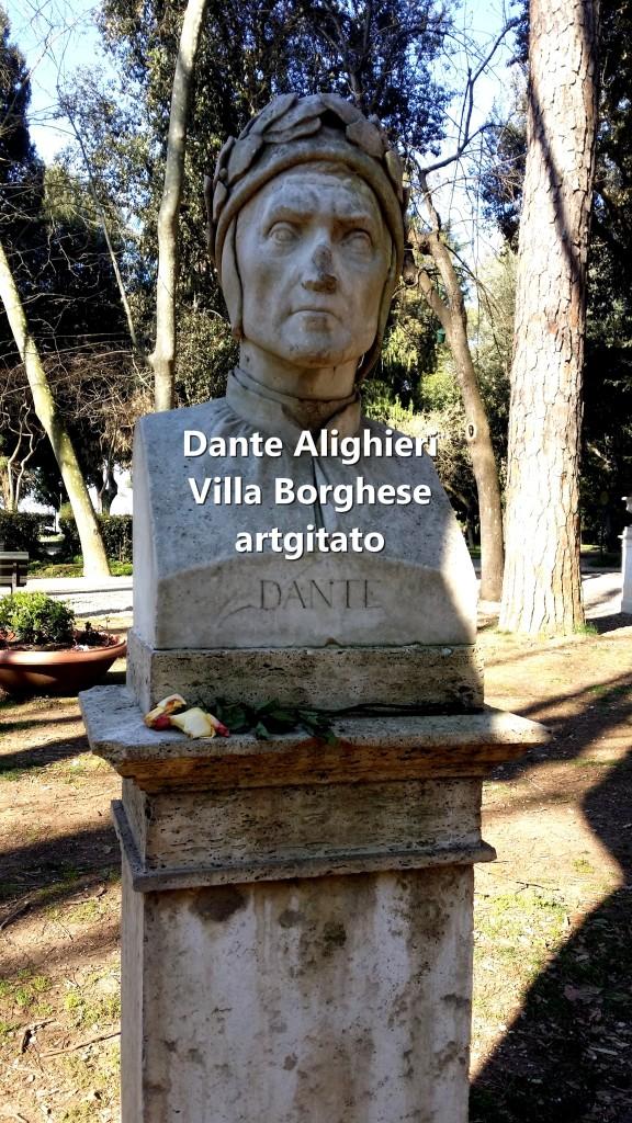 Dante Alighieri Villa Borghese Rome Roma artgitato 2