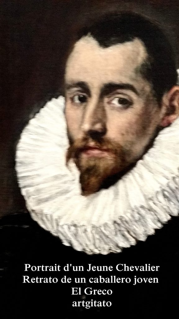 El Greco Prado Montauban Portrait d'un Jeune Chevalier Retrato de un caballero joven artgitato 2