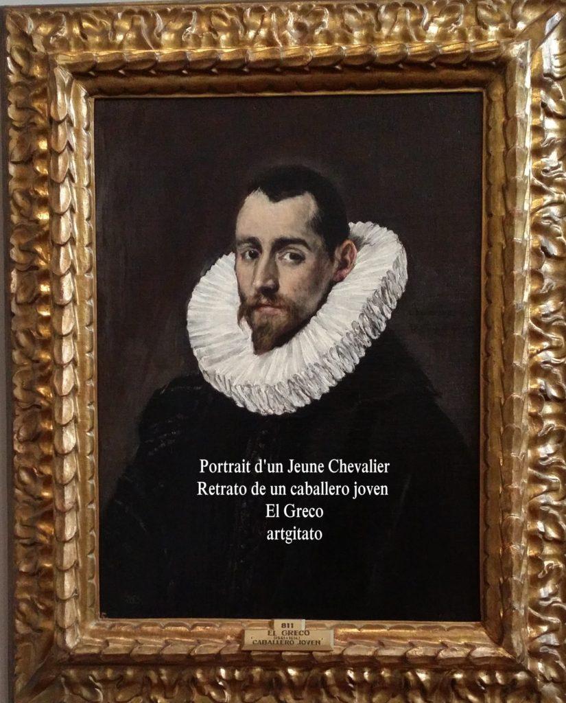 El Greco Prado Montauban Portrait d'un Jeune Chevalier Retrato de un caballero joven artgitato 3