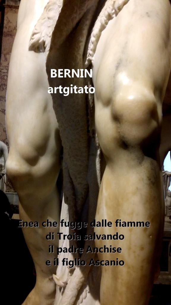 Enea che fugge dalle fiamme di Troia salvando il padre Anchise e il figlio Ascani Bernini Le Bernin Galerie Borghese artgitato 1