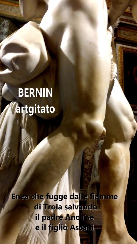 Enea che fugge dalle fiamme di Troia salvando il padre Anchise e il figlio Ascani Bernini Le Bernin Galerie Borghese artgitato 2