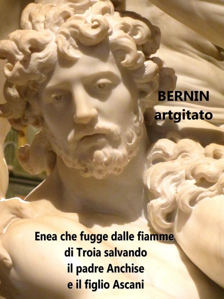 Enea che fugge dalle fiamme di Troia salvando il padre Anchise e il figlio Ascani Bernini Le Bernin Galerie Borghese artgitato 9