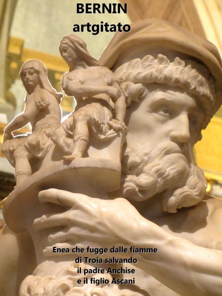 Enea che fugge dalle fiamme di Troia salvando il padre Anchise e il figlio Ascani Bernini Le Bernin Galerie Borghese artgitato 91