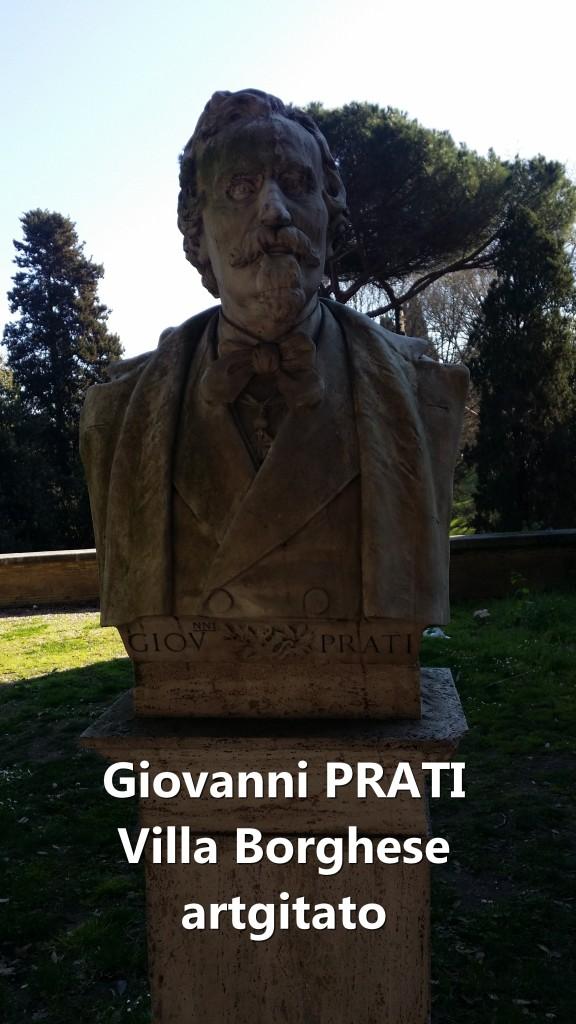 Giovanni_Prati 1815 1884 Villa Borghese Rome Roma artgitato