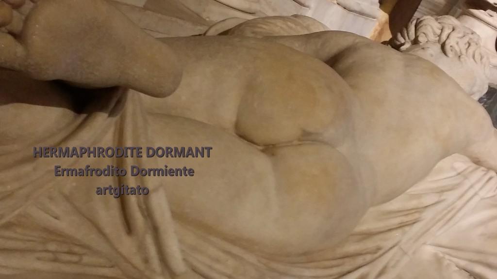 HERMAPHRODITE DORMANT Ermafrodito dormiente artgitato Galleria Borghese Galerie Borghese