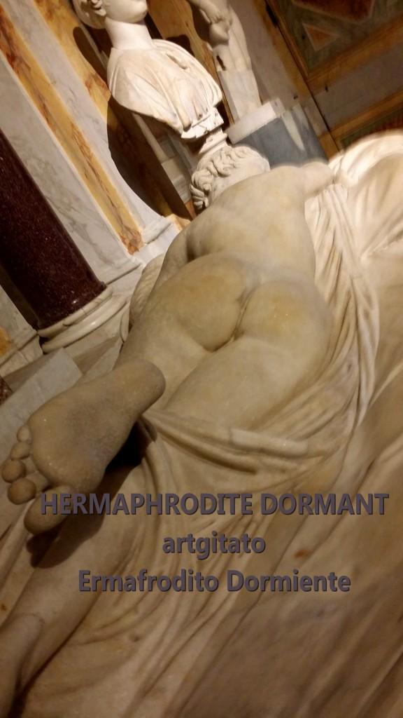 HERMAPHRODITE DORMANT Ermafrodito dormiente artgitato Galleria Borghese Galerie Borghese 2