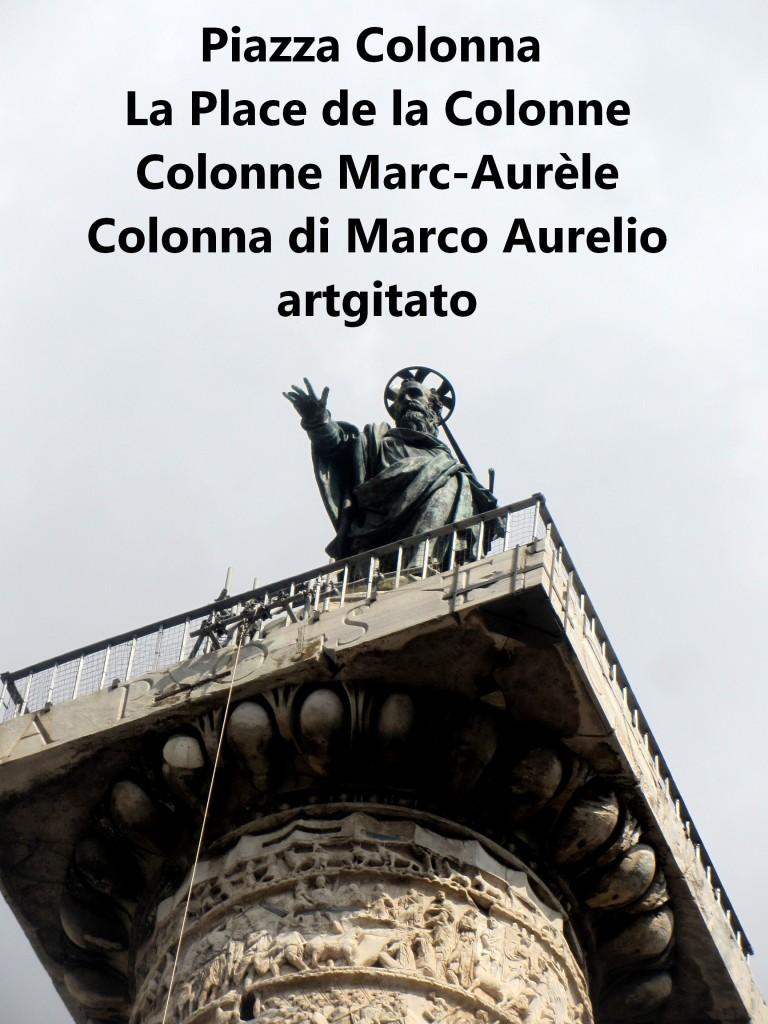 LES PLACES DE ROME Piazza Colonna - La Place de la Colonne et la colonne Marc-Aurèle - Colonna di Marco Aurelio - ROMA - ROME artgitato (10)
