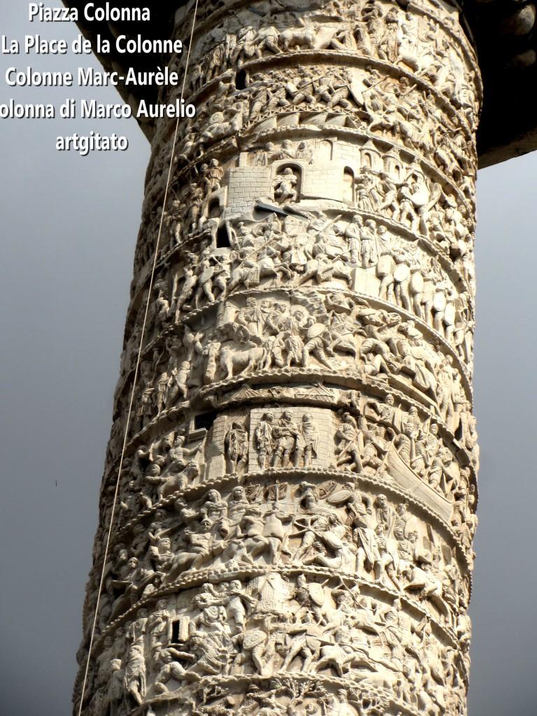 LES PLACES DE ROME Piazza Colonna - La Place de la Colonne et la colonne Marc-Aurèle - Colonna di Marco Aurelio - ROMA - ROME artgitato (11)