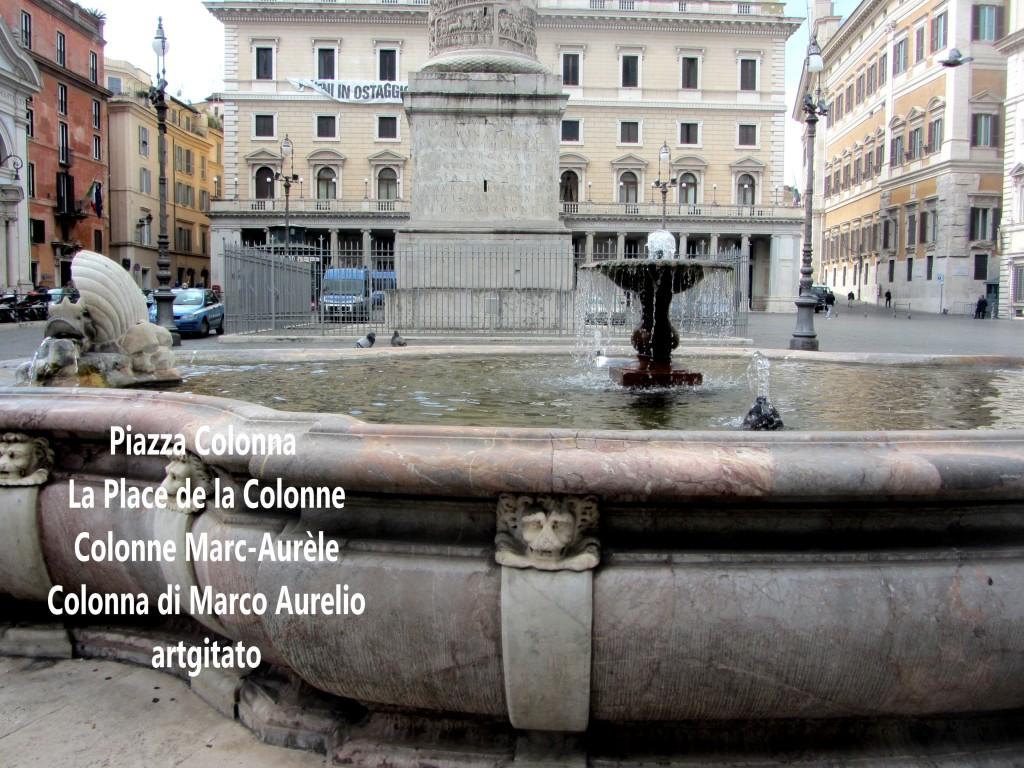 LES PLACES DE ROME Piazza Colonna - La Place de la Colonne et la colonne Marc-Aurèle - Colonna di Marco Aurelio - ROMA - ROME artgitato (12)