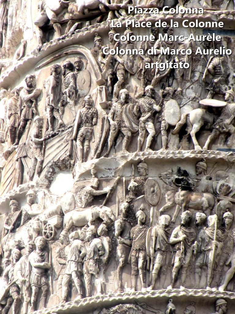 LES PLACES DE ROME Piazza Colonna - La Place de la Colonne et la colonne Marc-Aurèle - Colonna di Marco Aurelio - ROMA - ROME artgitato (2)