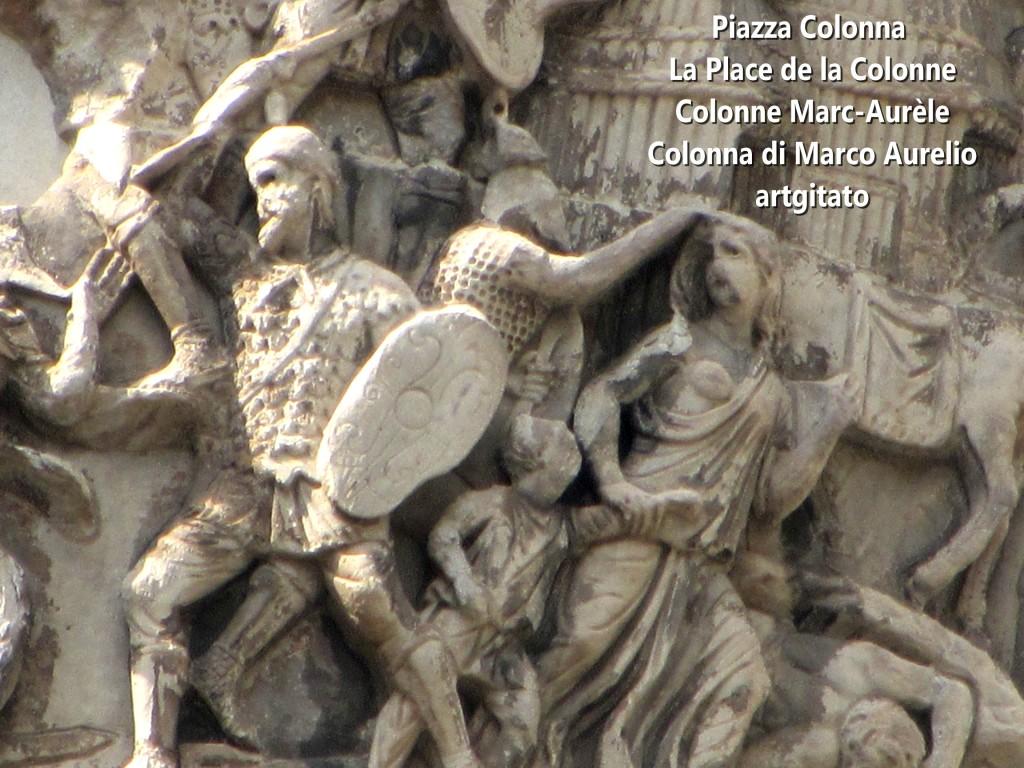 LES PLACES DE ROME Piazza Colonna - La Place de la Colonne et la colonne Marc-Aurèle - Colonna di Marco Aurelio - ROMA - ROME artgitato (3)