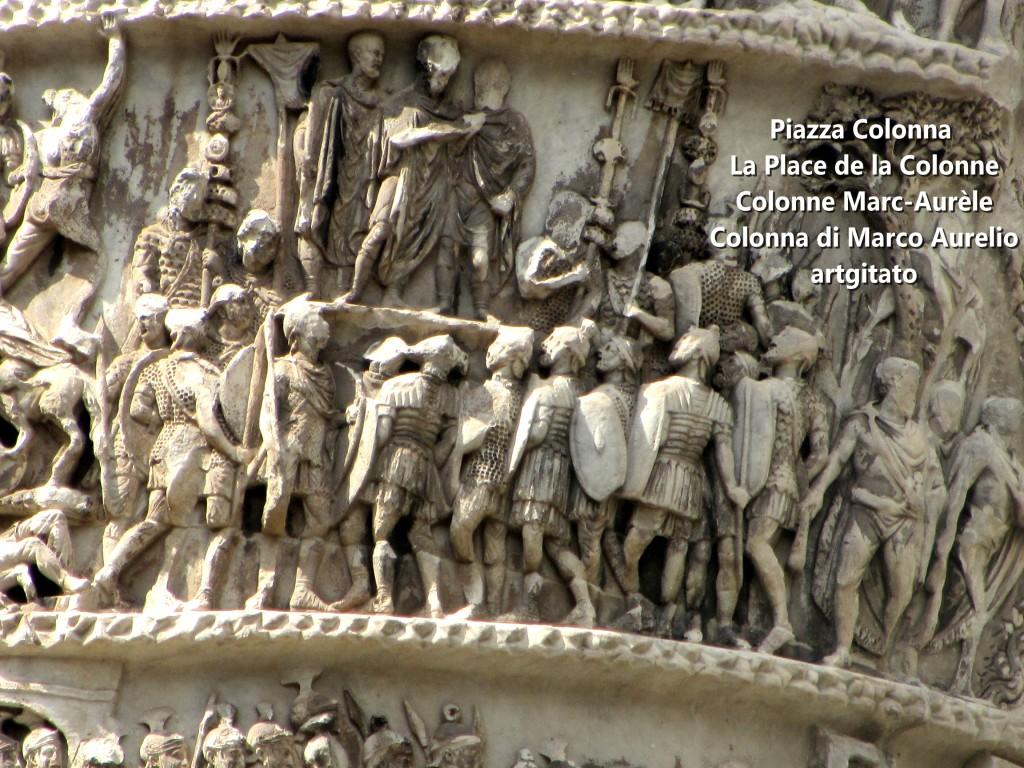 LES PLACES DE ROME Piazza Colonna - La Place de la Colonne et la colonne Marc-Aurèle - Colonna di Marco Aurelio - ROMA - ROME artgitato (5)