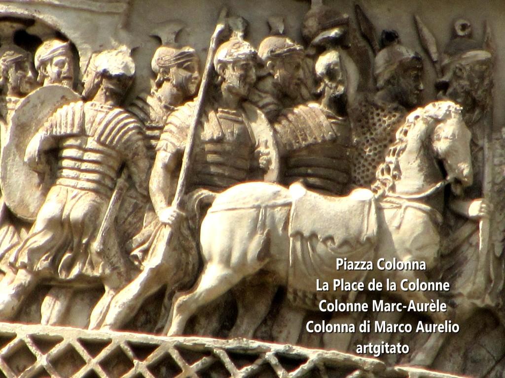 LES PLACES DE ROME Piazza Colonna - La Place de la Colonne et la colonne Marc-Aurèle - Colonna di Marco Aurelio - ROMA - ROME artgitato (6)