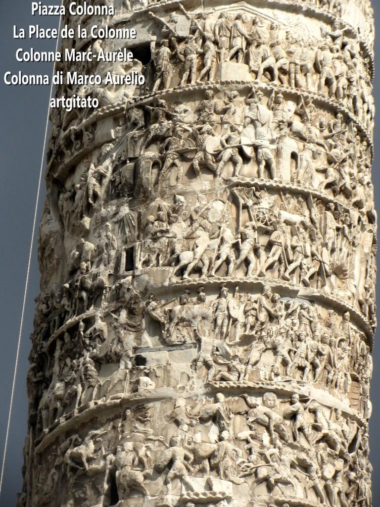 LES PLACES DE ROME Piazza Colonna - La Place de la Colonne et la colonne Marc-Aurèle - Colonna di Marco Aurelio - ROMA - ROME artgitato (9)
