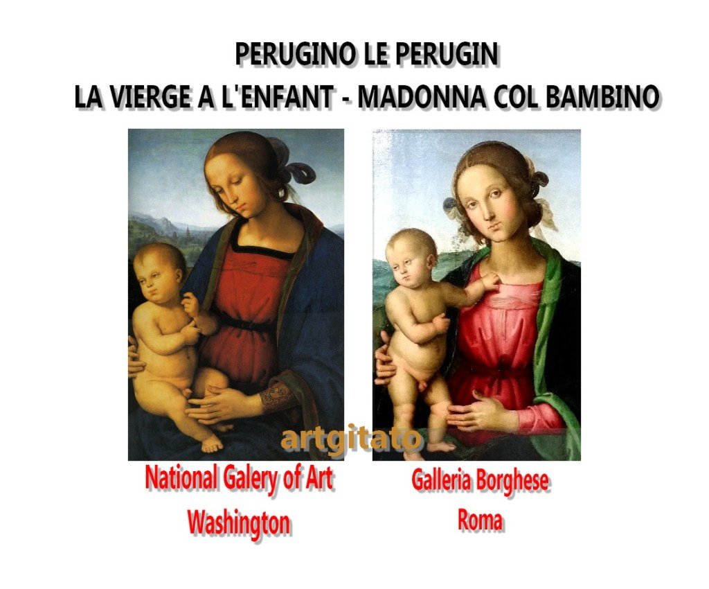 Le Perugin Il Perugino Madonna col Bambino Galleria Borghese & National Gallery of Art Washington.