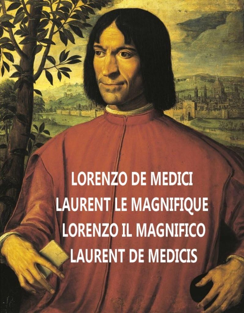 Lorenzo_de'_Medici-ritratto Laurent le Magnifique par Girolamo Macchietti XVIe siècle