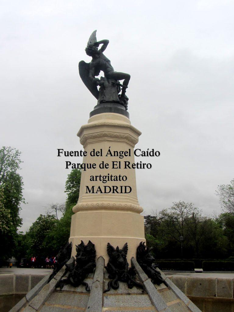 Madrid Fuente del Ángel Caído Parque de El Retiro artgitato 3