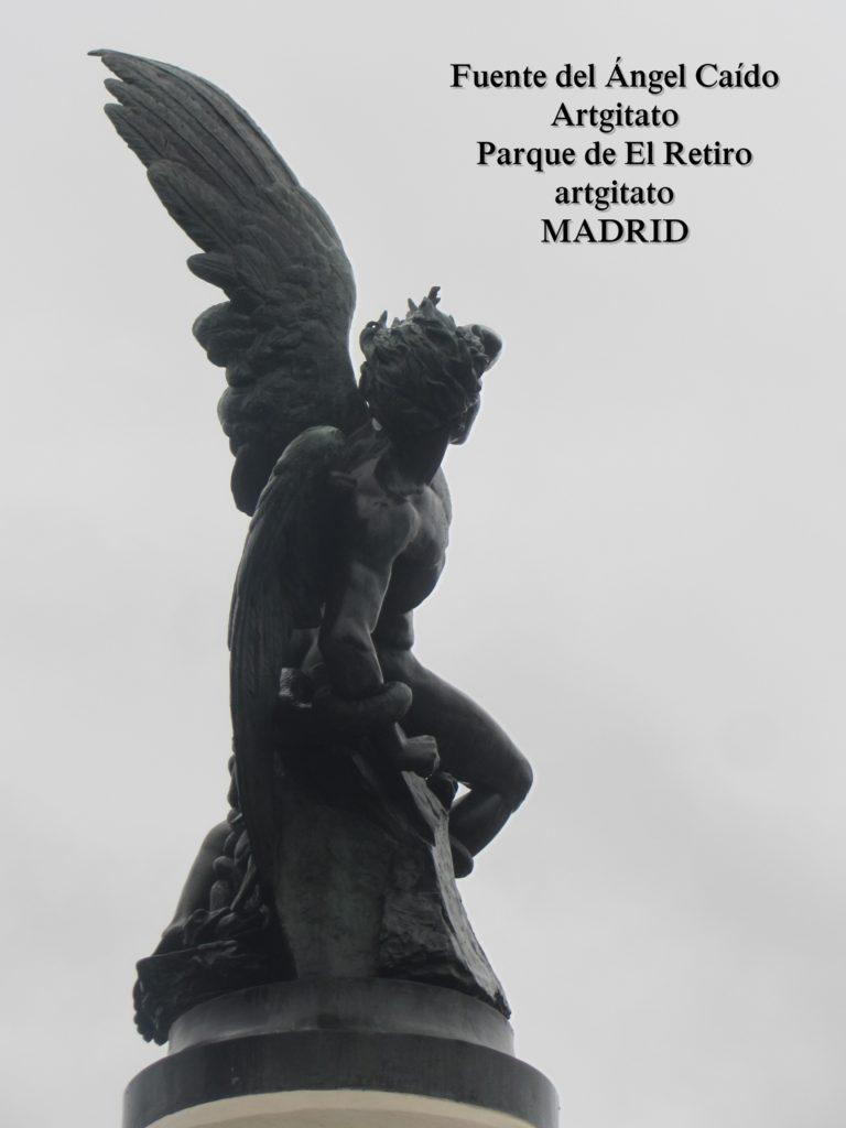 Madrid Fuente del Ángel Caído Parque de El Retiro artgitato 4