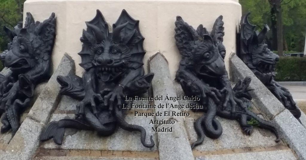 Madrid Fuente del Ángel Caído Parque de El Retiro artgitato 5