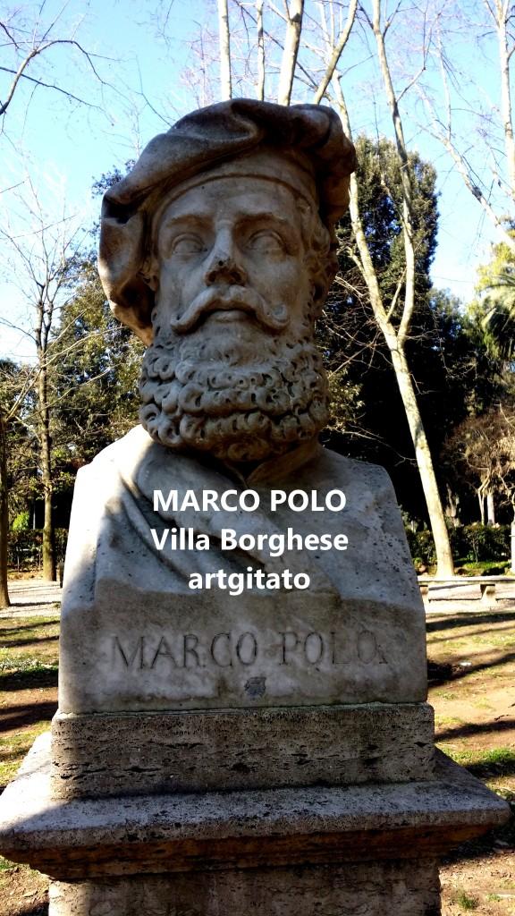 Marco Polo Villa Borghese Artgitato Rome Roma