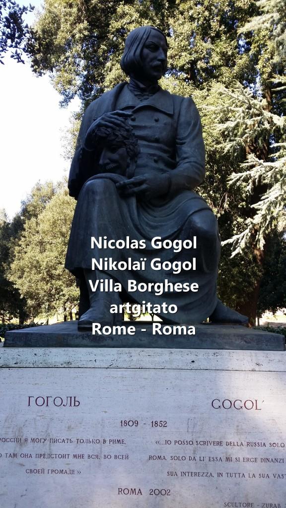 Nikolai Gogol Nicolas Gogol Rome Roma Villa Borghese artgitato 3