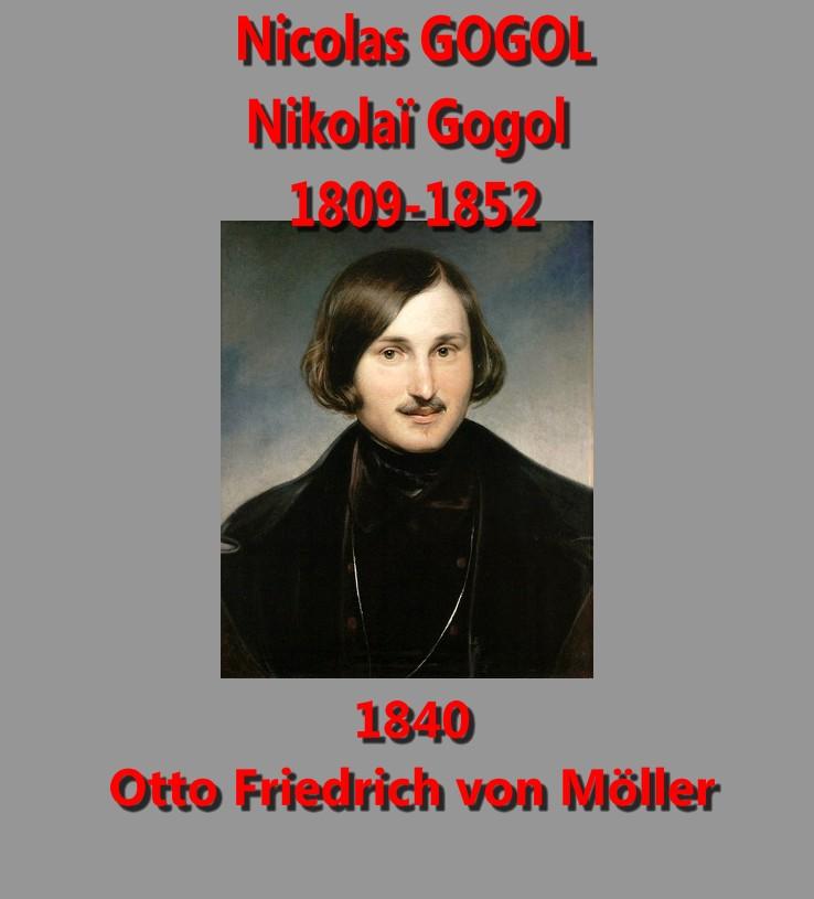 Nikolai Gogol par F Moller 1840 Otto Friedrich von Möller Tretyakov gallery