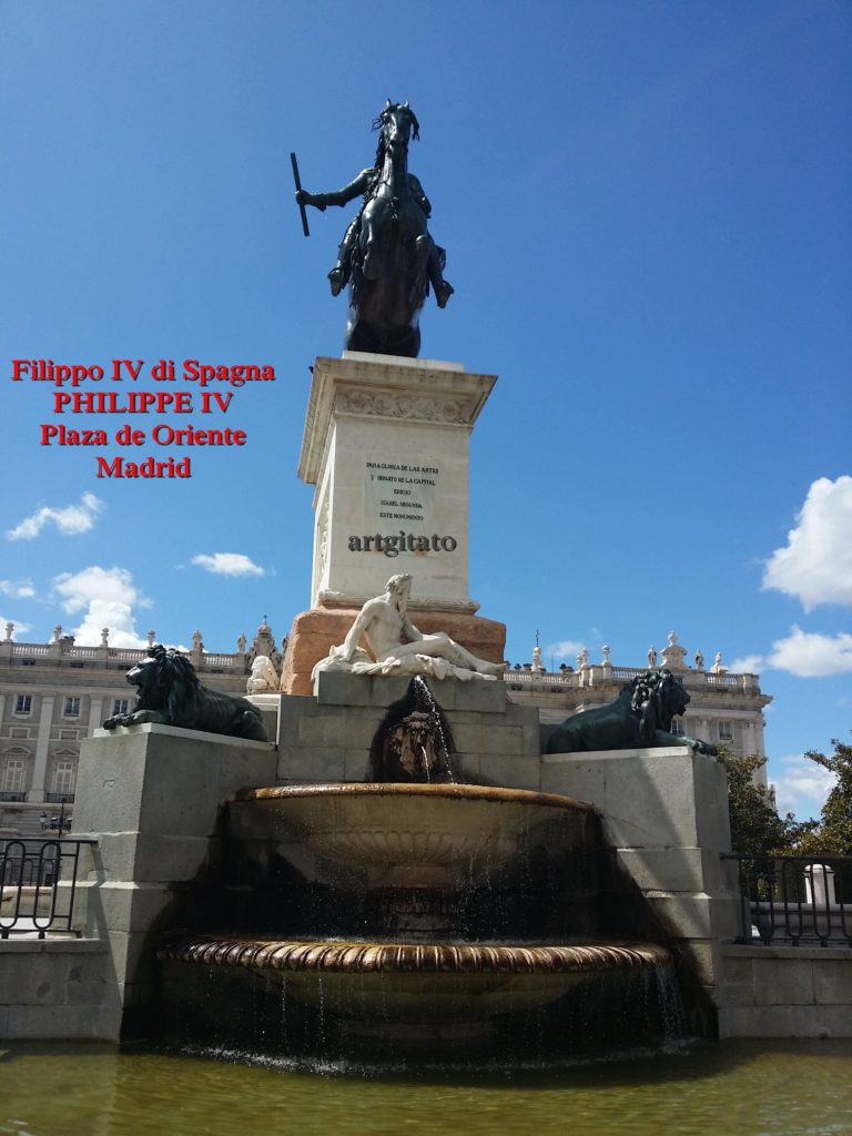Philippe IV Philip_IV_of_Spain Plaza de Oriente Place de l'Orient Artgitato 1