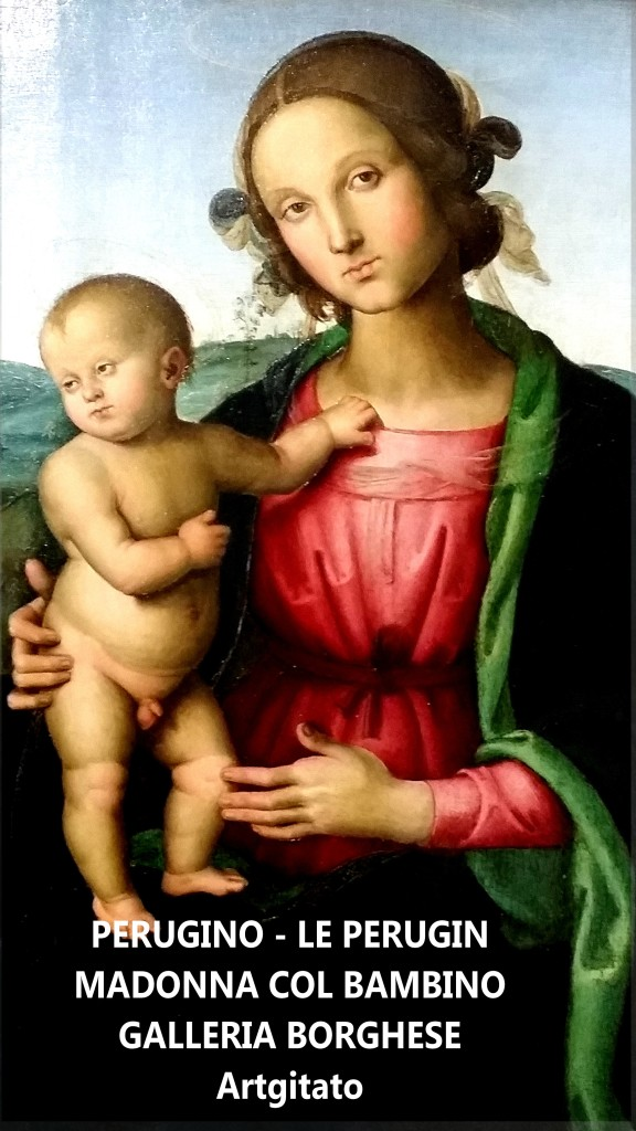 Pietro_Perugino madonna col Bambino Galleria Borghese Galerie Borghese artgitato Rome Roma