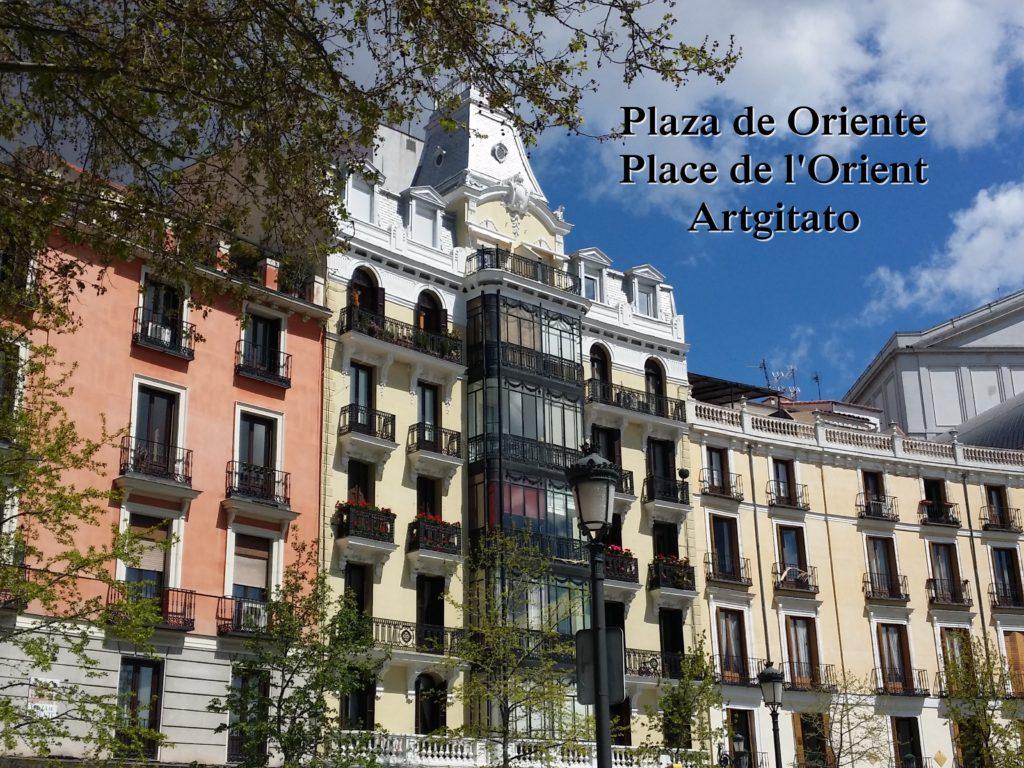 Plaza de Oriente Place de l'orient Madrid Artgitato