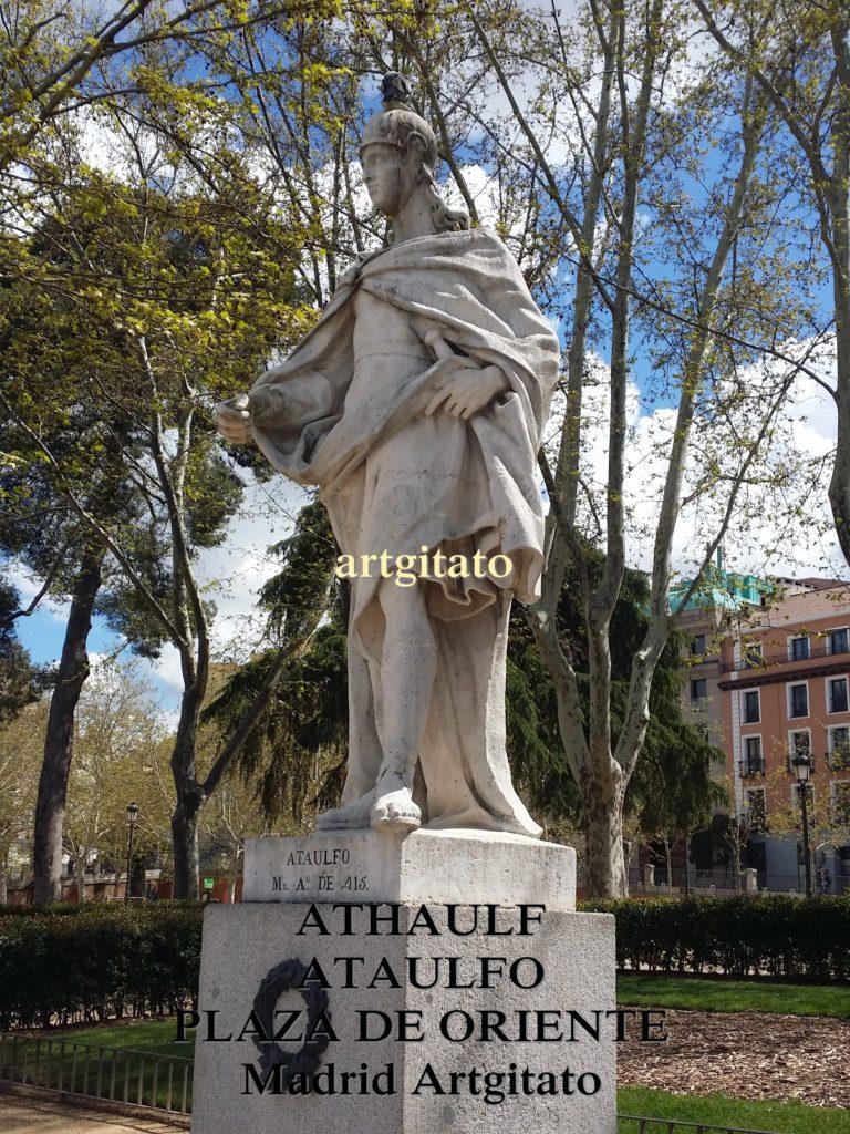 Plaza de Oriente Place de l'orient Madrid Athaulf Ataulfo Roi des Visigoths