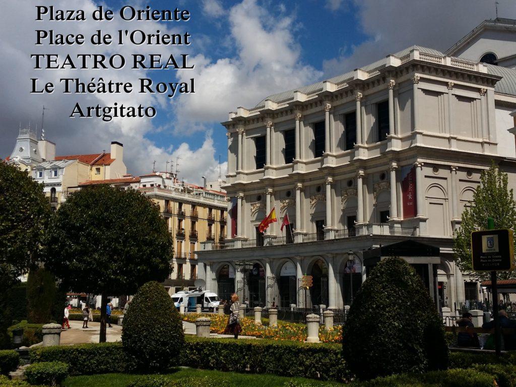 Plaza de Oriente Place de l'orient Madrid Le Théâtre Royal Teatro Real 2