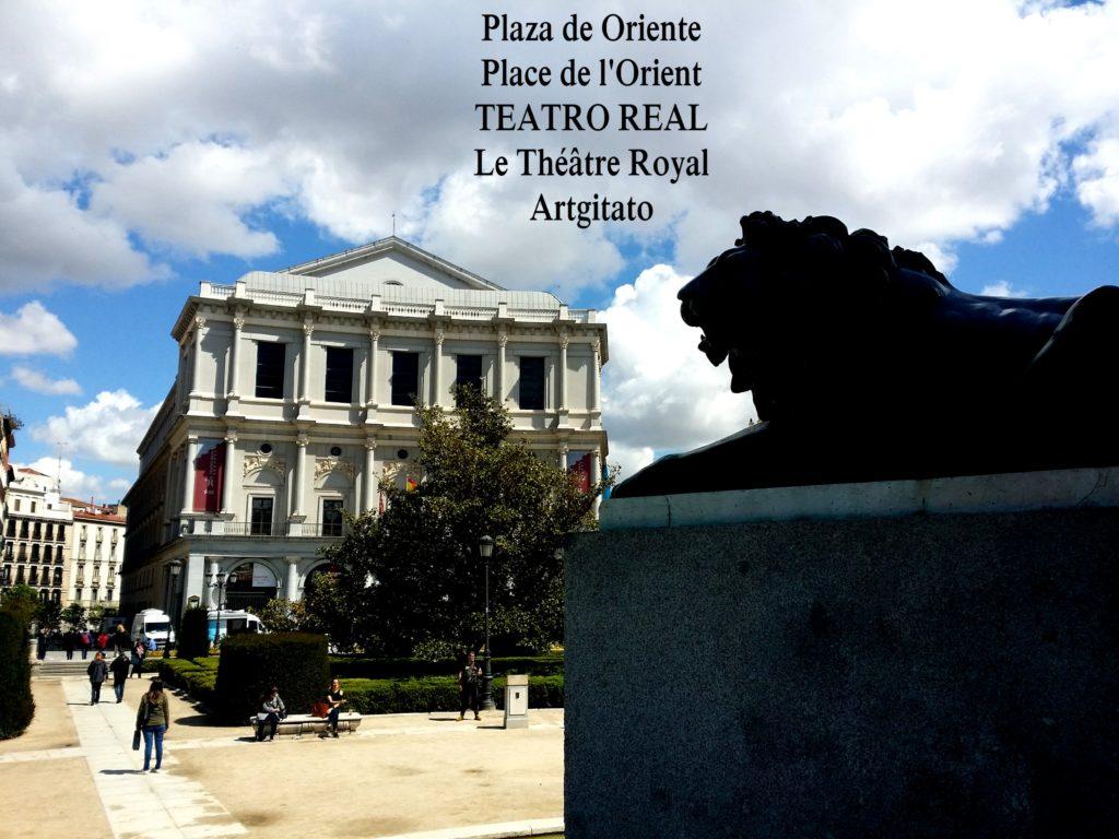 Plaza de Oriente Place de l'orient Madrid Le Théâtre Royal Teatro Real 3