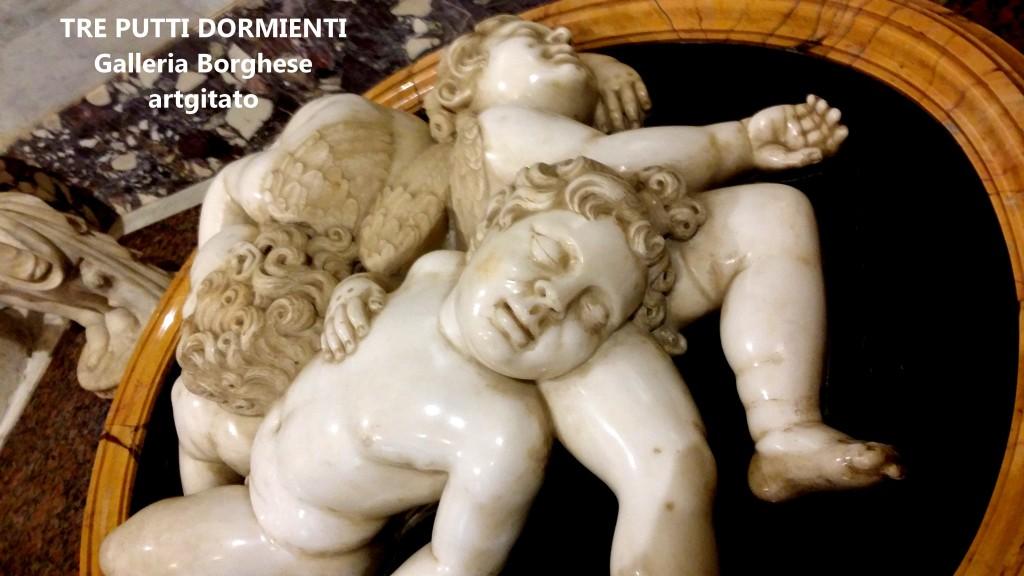 Tre Putti Dormienti Galleria Borghese Galerie Borghese artgitato (2)