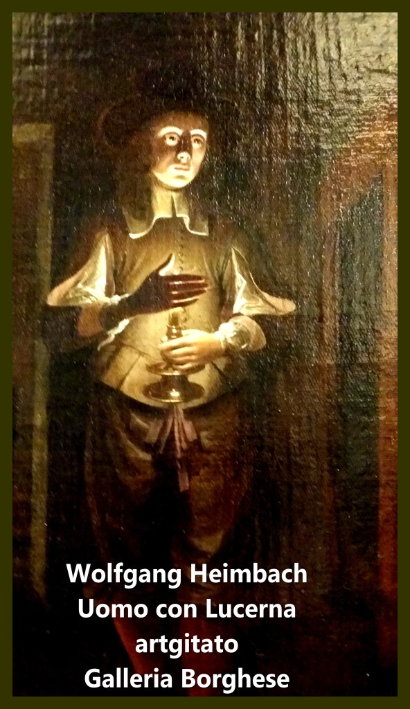 Wolfgang Heimbach Uomo con Lucerna L'Homme à la lanterne artgitato Villa Borghese (1)