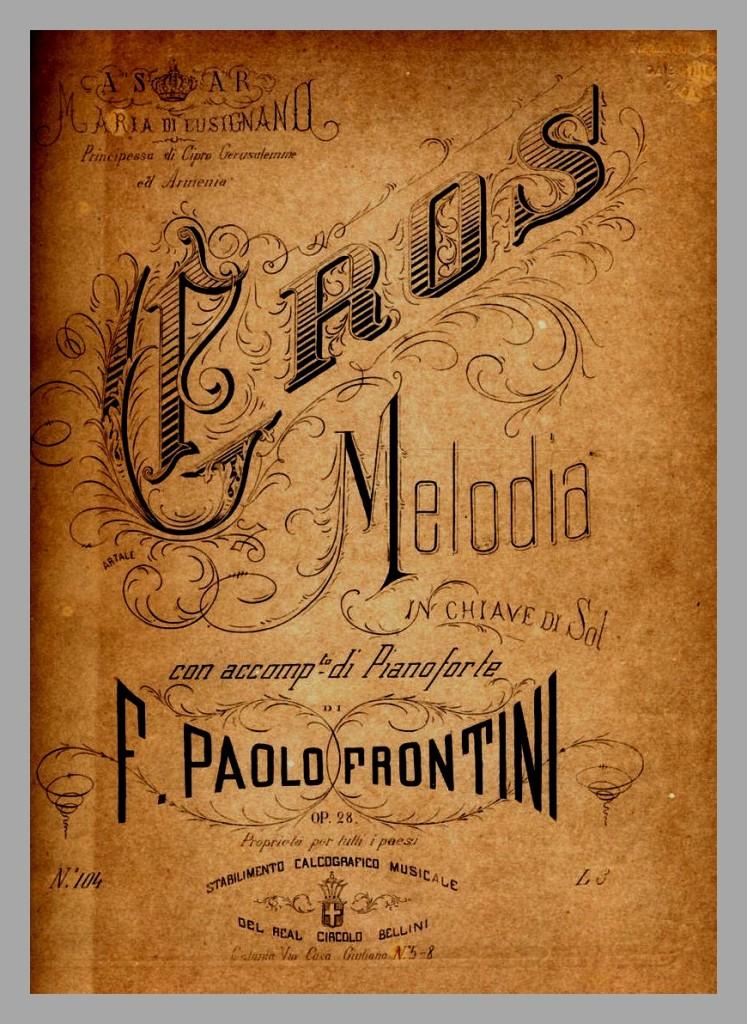 ed. Real Circolo Bellini 1878, vers de Giovanni Prati, Musique de Francesco Paolo Frontini