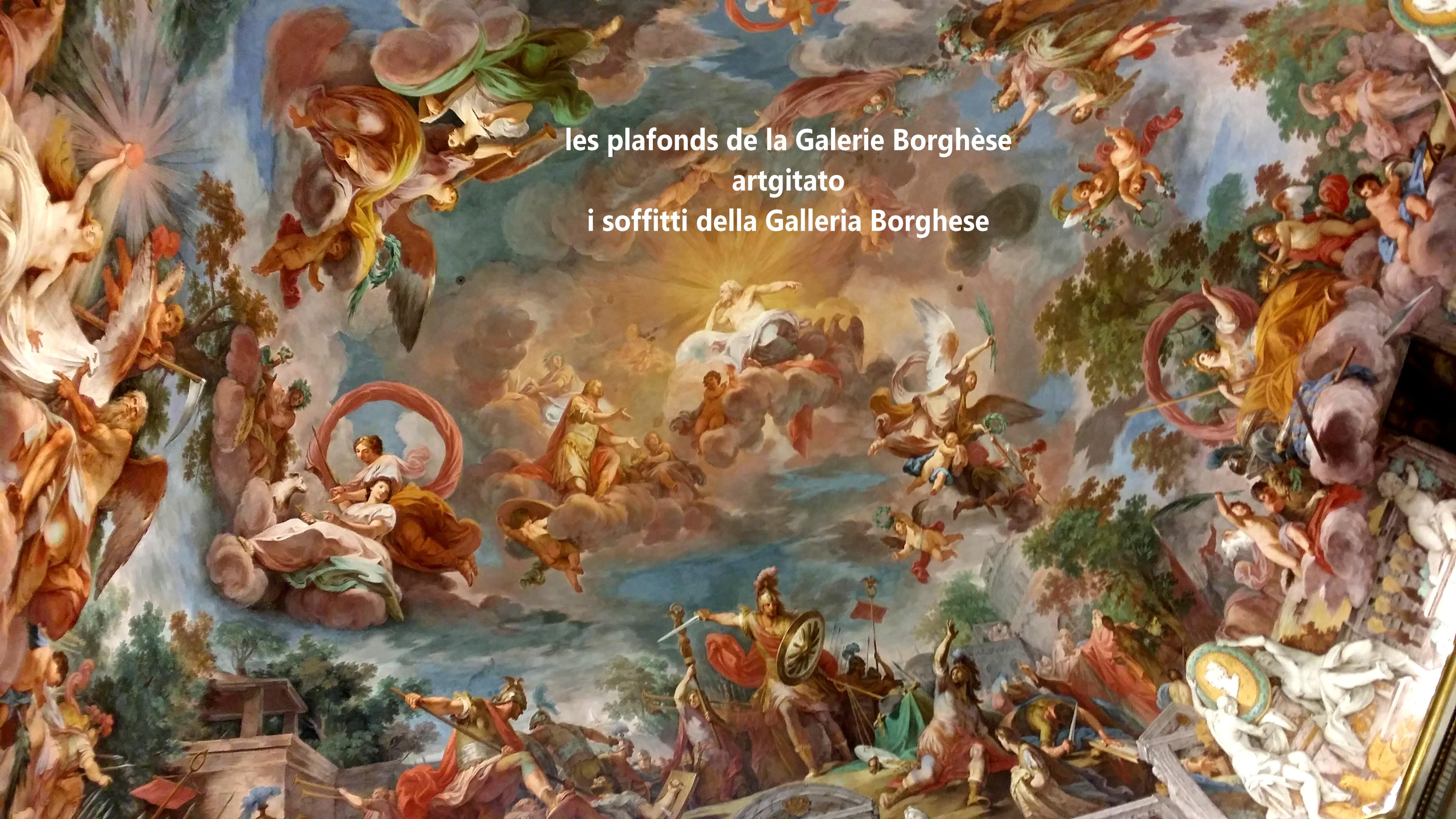 Les plafonds de la galerie borgh se i soffitti della galleria borghese artgitato - Salle de l esprit et du temps ...
