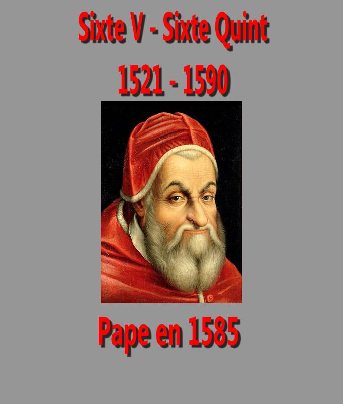papa Sixtus V Sixte V Sixte quint
