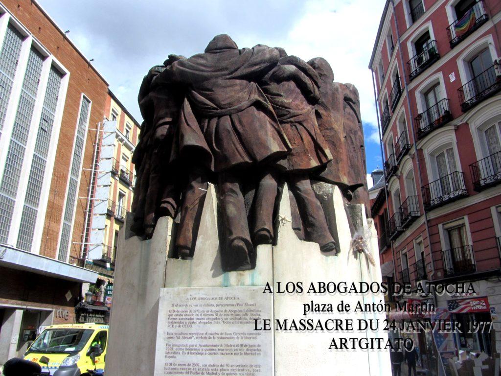 A LOS ABOGADOS DE ATOCHA - plaza de Antón Martín - LE MASSACRE DU 24 JANVIER 1977 (3)