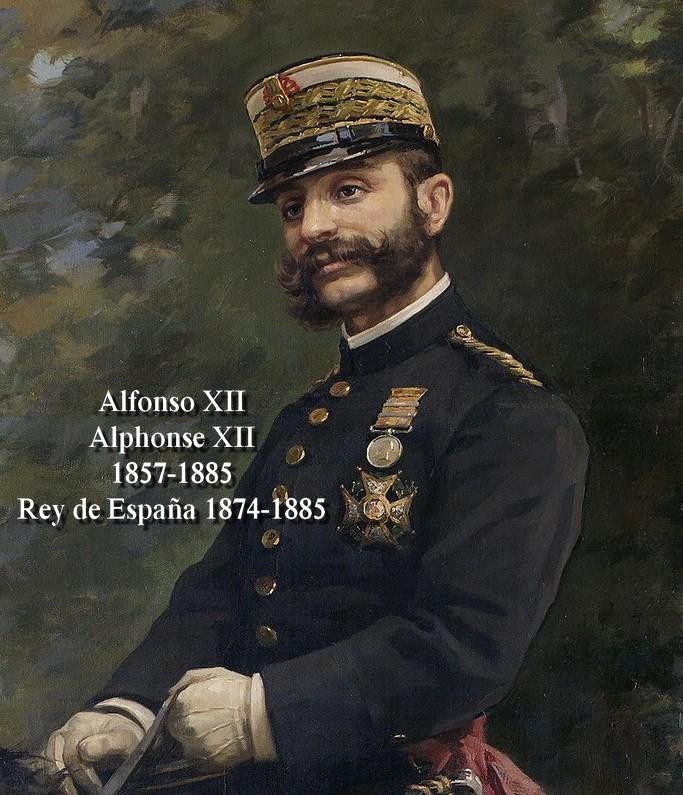 ALFONSO XII Alphonse XII Rey de España Roi d'Espagne