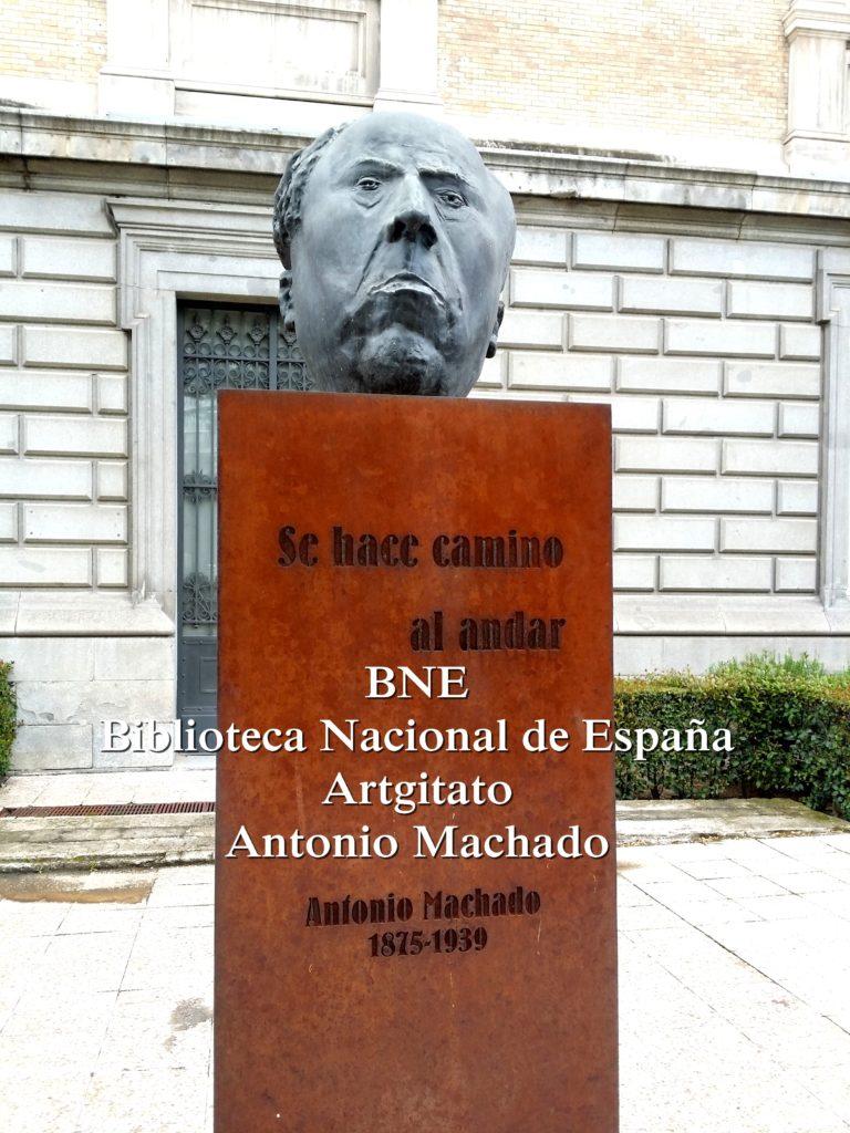 BNE Biblioteca Nacional de España Biblitothèque Nationale d'Espagne Artgitato Madrid Antonio Machado (1)