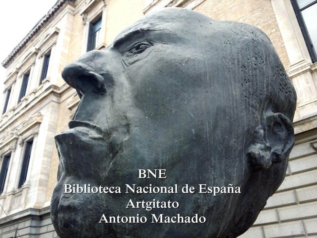 BNE Biblioteca Nacional de España Biblitothèque Nationale d'Espagne Artgitato Madrid Antonio Machado (2)